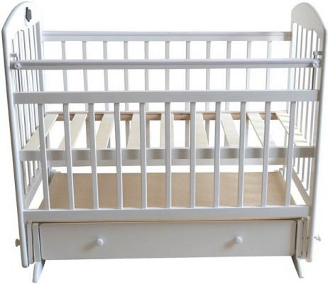 Кроватка с маятником Briciola 8 (с ящиком/белая)
