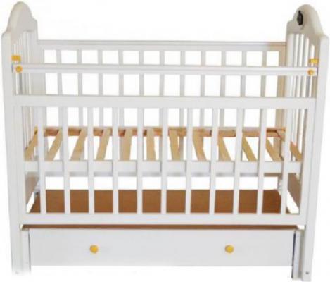 Кроватка с маятником Briciola 10 (с ящиком/белая)
