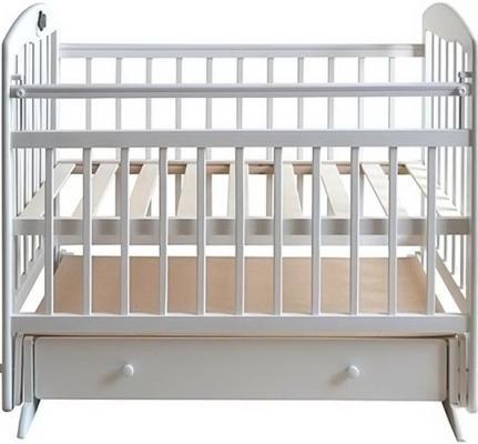 Кроватка с маятником Briciola 8 (с ящиком/слоновая кость)