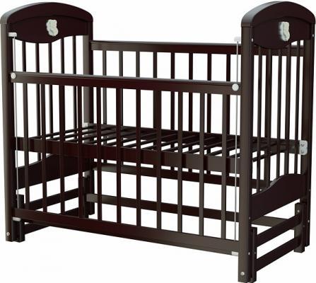 Кроватка с маятником Briciola 2 (без ящика/темная)