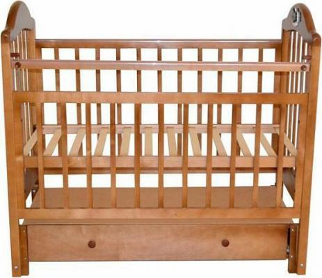 Кроватка с маятником Briciola 10 (с ящиком/светлая)