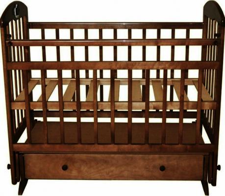 Кроватка с маятником Briciola 8 (с ящиком/орех)