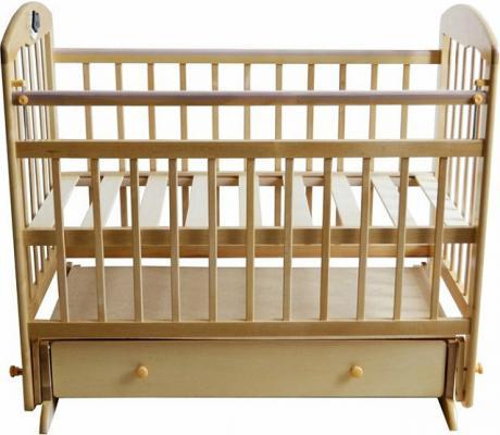 Кроватка с маятником Briciola 11 (с ящиком/светлая)
