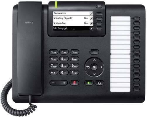 Телефон IP Siemens Unify OpenScape CP400 черный L30250-F600-C427