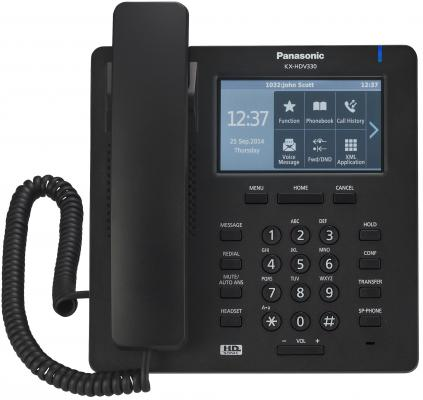 Телефон IP Panasonic KX-HDV330RUB черный