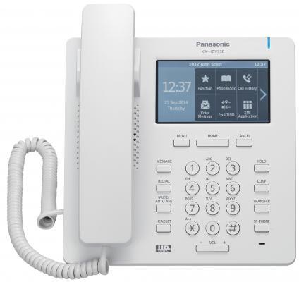 Телефон IP Panasonic KX-HDV330RU белый