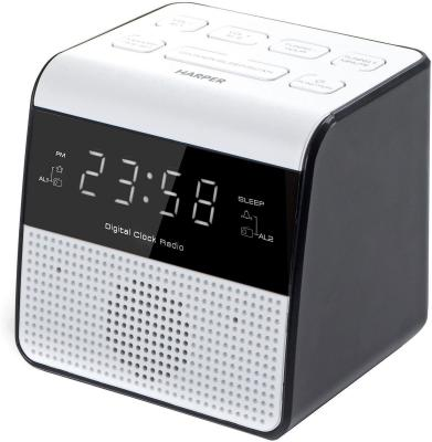 Радиобудильник Harper HRCB-7760 белый чёрный eglo 82877