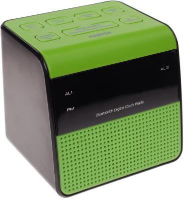 Радиобудильник Harper HRCB-7768 зелёный чёрный