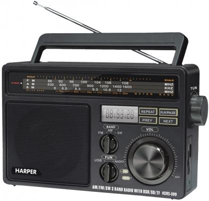 Радиоприемник Harper HDRS-099 чёрный