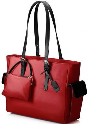 Сумка для ноутбука 14 HP Ladies Slm кожа красный T7B36AA