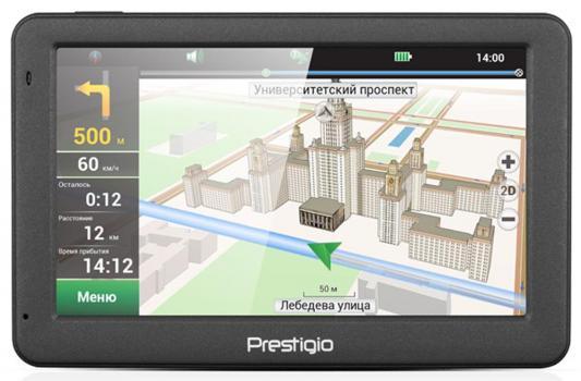 Навигатор Prestigio GeoVision 5059 Progorod 5 480x272 4GB 128MB microSD microSDHC серый gps навигатор prestigio geovision 5059 navitel темно серый