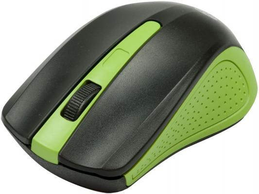 Мышь беспроводная Ritmix RMW-555 чёрный зелёный USB