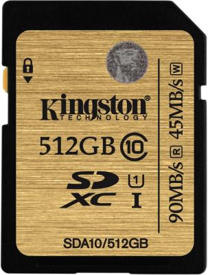 Карта памяти SDXC 512GB Class 10 Kingston SDA10/512GB