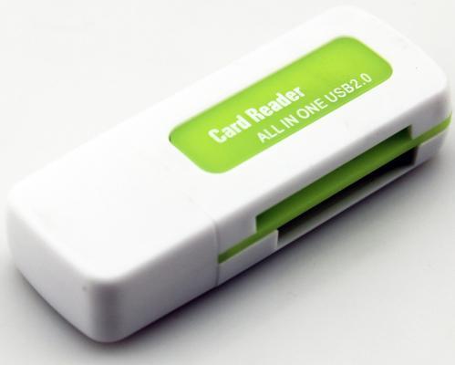 Картридер внешний ORIENT CR-011G SDHC/SDXC/microSD/MMC/MS/MS Duo/M2 USB 2.0 бело-зеленый цены