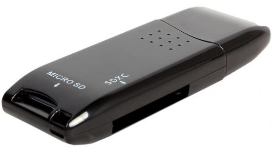 Картридер внешний ORIENT CR-017B W Mini SDXC/SD3.0/SDHC/microSD/T-Flash USB 3.0 черный mini flash