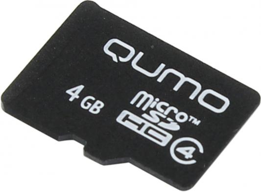 Карта памяти Micro SDHC 4Gb class 4 QUMO QM4GMICSDHC4NA