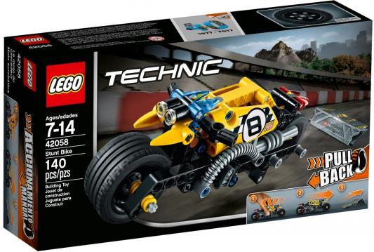 Конструктор LEGO Technic: Мотоцикл для трюков 140 элементов 42058
