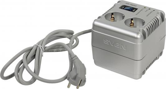 Стабилизатор напряжения Sven VR-R 600 серебристый 2 розетки 1.7 м