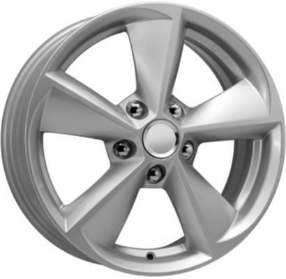 Диск K&K Toyota Corolla КСr681 6.5xR16 5x114.3 мм ET45 Сильвер 65576 штампованный диск magnetto wheels toyota corolla 6 5 r16 5x114 3 d60 1 et45 black