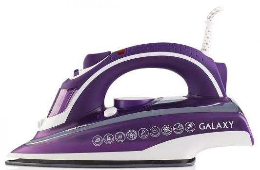 Утюг GALAXY GL6115 2400Вт фиолетовый белый утюг galaxy gl6122 синий
