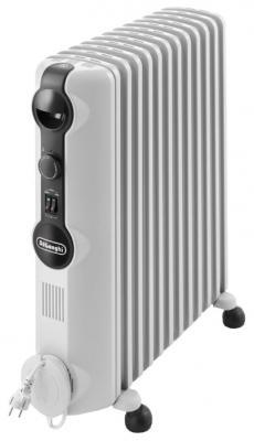 Масляный радиатор DeLonghi TRRS 1225 Radia S 2500 Вт термостат ручка для переноски белый