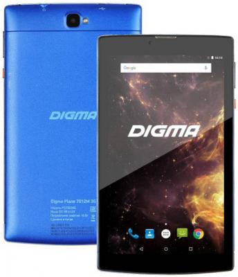 "Планшет Digma Plane 7012M 3G 7"" 8Gb Blue Wi-Fi 3G Bluetooth Android PS7082MG цена"