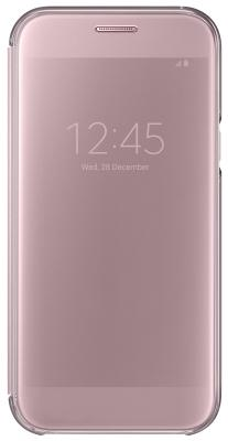 все цены на  Чехол Samsung EF-ZA720CPEGRU для Samsung Galaxy A7 2017 Clear View Cover розовый  онлайн