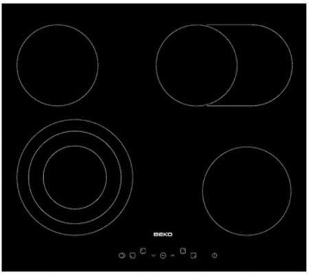 Варочная панель электрическая Beko HIC 64404 T черный