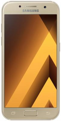 Смартфон Samsung Galaxy A7 Duos 2017 золотистый 5.7 32 Гб NFC LTE Wi-Fi GPS 3G SM-А720FZDDSER samsung galaxy s4 2 ядра dual 5 дюймов wi fi duos android 4 0 2 sim