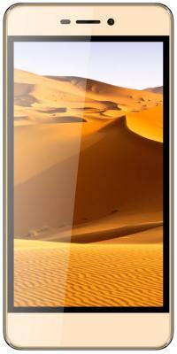 """Смартфон Micromax Q4251 золотистый шампань 5"""" 8 Гб Wi-Fi GPS 3G"""