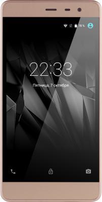 Смартфон Micromax Q4202 золотистый шампань 5 8 Гб LTE Wi-Fi GPS 3G смартфон zte blade v8 золотистый 5 2 32 гб lte wi fi gps 3g bladev8gold