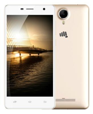 "Смартфон Micromax Q351 золотистый 5"" 8 Гб GPS Wi-Fi 3G"