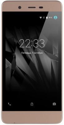 Смартфон Micromax Q4101 золотистый шампань 4.5 8 Гб LTE Wi-Fi GPS 3G смартфон zte blade v8 золотистый 5 2 32 гб lte wi fi gps 3g bladev8gold
