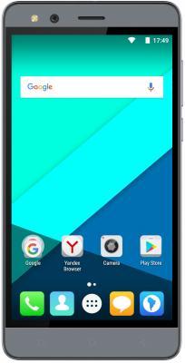Смартфон Micromax Q397 серый 5.5 16 Гб Wi-Fi GPS 3G смартфон micromax q334 canvas magnus черный 5 4 гб wi fi gps 3g