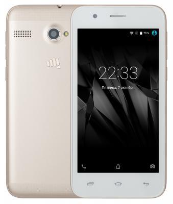 "Смартфон Micromax Q346 Lite золотистый 4.5"" 8 Гб Wi-Fi GPS 3G"