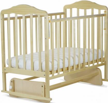 Кроватка с маятником СКВ Березка (береза снежная/124005-5)