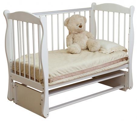 Кроватка с маятником Noony Wood Simple (белый)