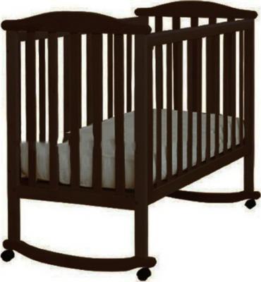 Кроватка-качалка Лель Лютик АБ 15.0 (махагон)