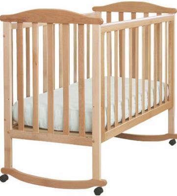 Кроватка-качалка Лель Лютик АБ 15.0 (натуральный бук) кроватка качалка лель лютик аб 15 1 белый