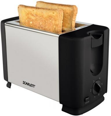 Тостер Scarlett SC-TM11012 чёрный серебристый масляный радиатор scarlett sc oh67b02 7