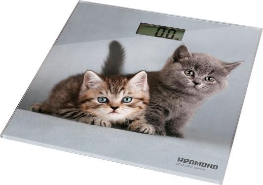 Весы напольные Redmond RS-735 серый рисунок весы redmond rs 735 кошка