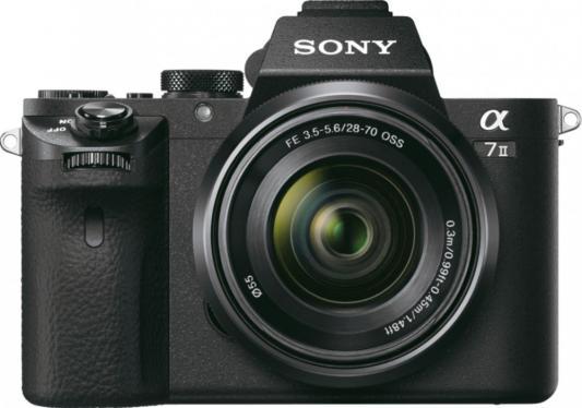 Цифровой фотоаппарат со сменной оптикой Sony Alpha A7M2  комплект с объективом FE 28-70/3.5-5.6 OSS, черный ILCE7M2KB.CEC sony sony fe 24 70 f2 8 gm полный кадр стандартный зум объектив sel2470gm