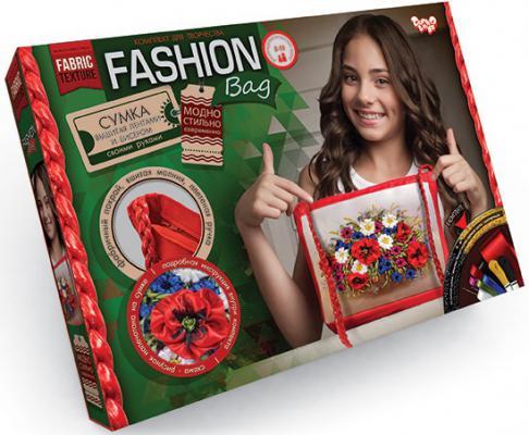Набор для творчества ДАНКО-ТОЙС вышивка лентами Fashion Bag Цветы от 8 лет