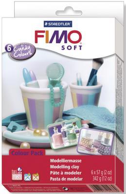 Глина полимерная FIMO soft комплект Конфетные цвета