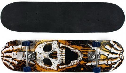 Скейтборд Shantou Gepai Skull 79х20 см, PVC колеса 635081