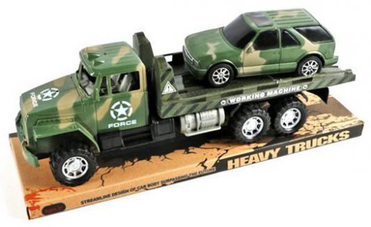 Набор Shantou Gepai Военный Автовоз, джип хаки 2 шт 43 см