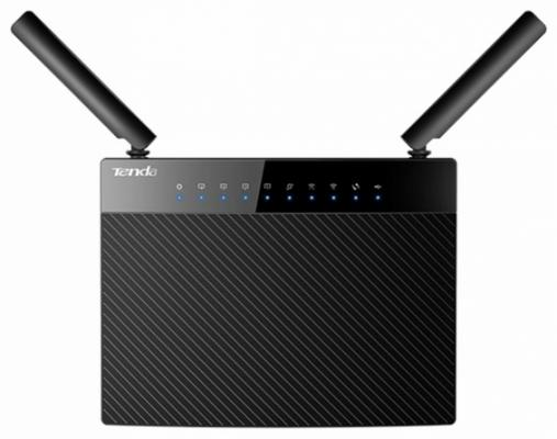 Беспроводной маршрутизатор Tenda AC9 802.11aс 1200Mbps 2.4 ГГц 5 ГГц 4xLAN USB черный маршрутизатор tenda ac5 1200mbps 11ac wave2 router mu mimo 1ghz cpu 4x5dbi antennas 1x100mbps wan 3x100mbps lan wifi on off switch universal rep