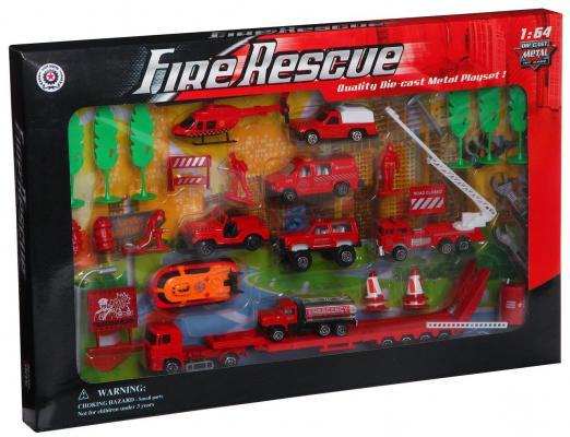 """Пожарная машина Pioneer """"Пожарная техника"""" красный 8 шт в ассортименте"""