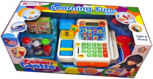 Игровой набор Shantou Gepai Касса с весами, сканером, набором продуктов и микрофоном