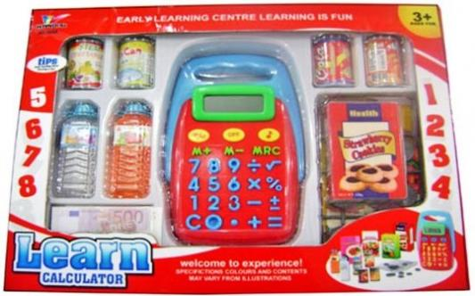 Игровой набор Shantou Gepai Калькулятор с набором продуктов 1608A игровой набор shantou gepai азбука магнитная 703